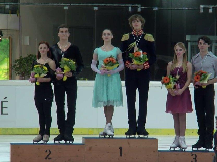 4 JGP Linz Ice Dance Medals